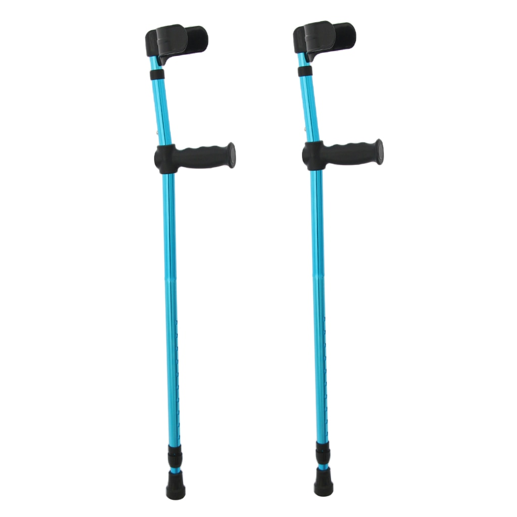 Adjustable 2pcs Aluminum Alloy Elbow Forearm Crutch Walking Stick Cane