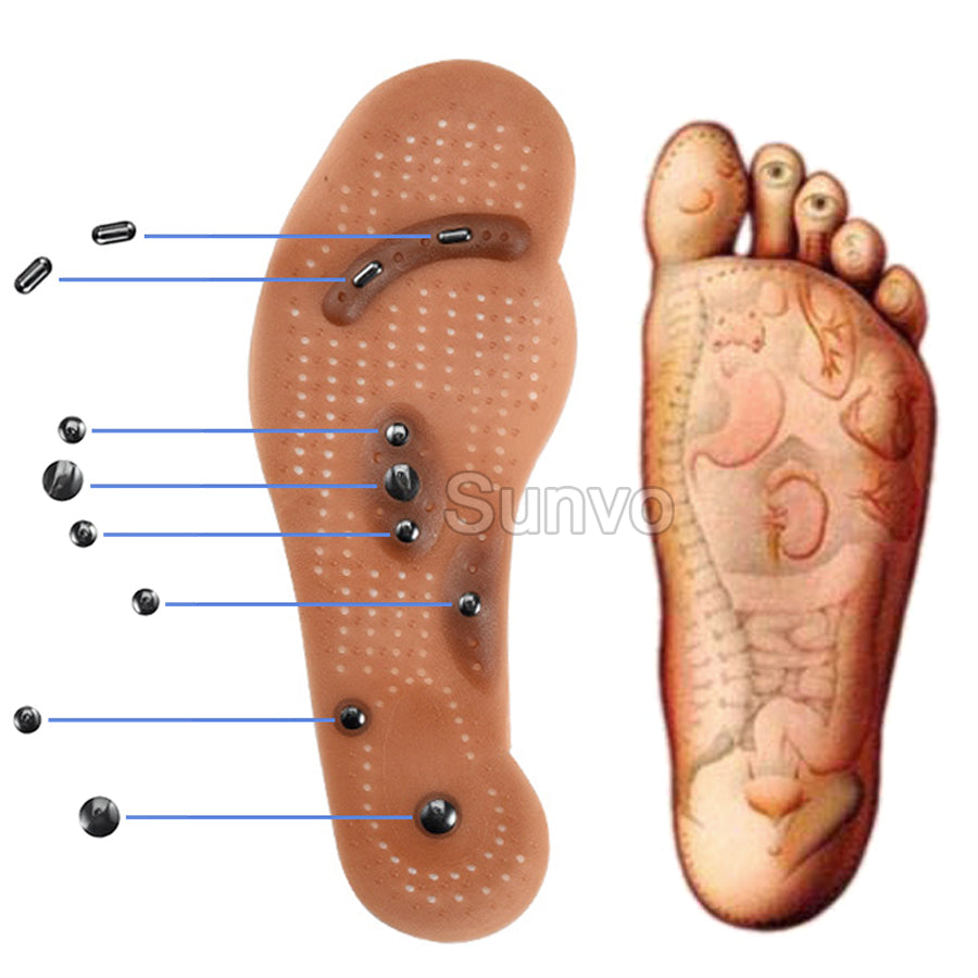 Magnetic Insoles Slimming Therapy Massage Foot Care Shoes Mat for Weight Loss