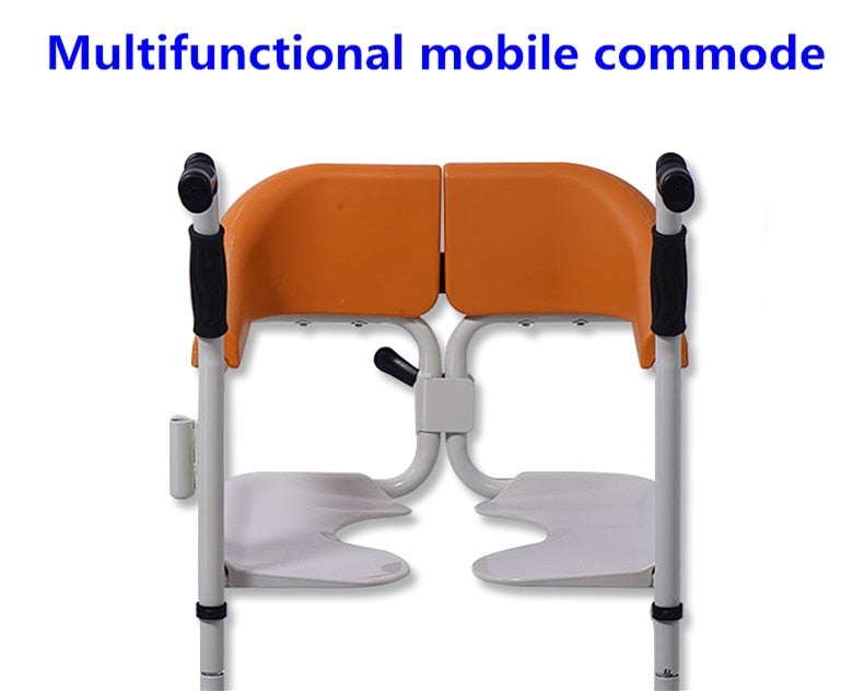 Multifunctional Open Up Wheelchair Mobile Seat Bed for Disabled Elderly with Toilet Commode Wheelchair