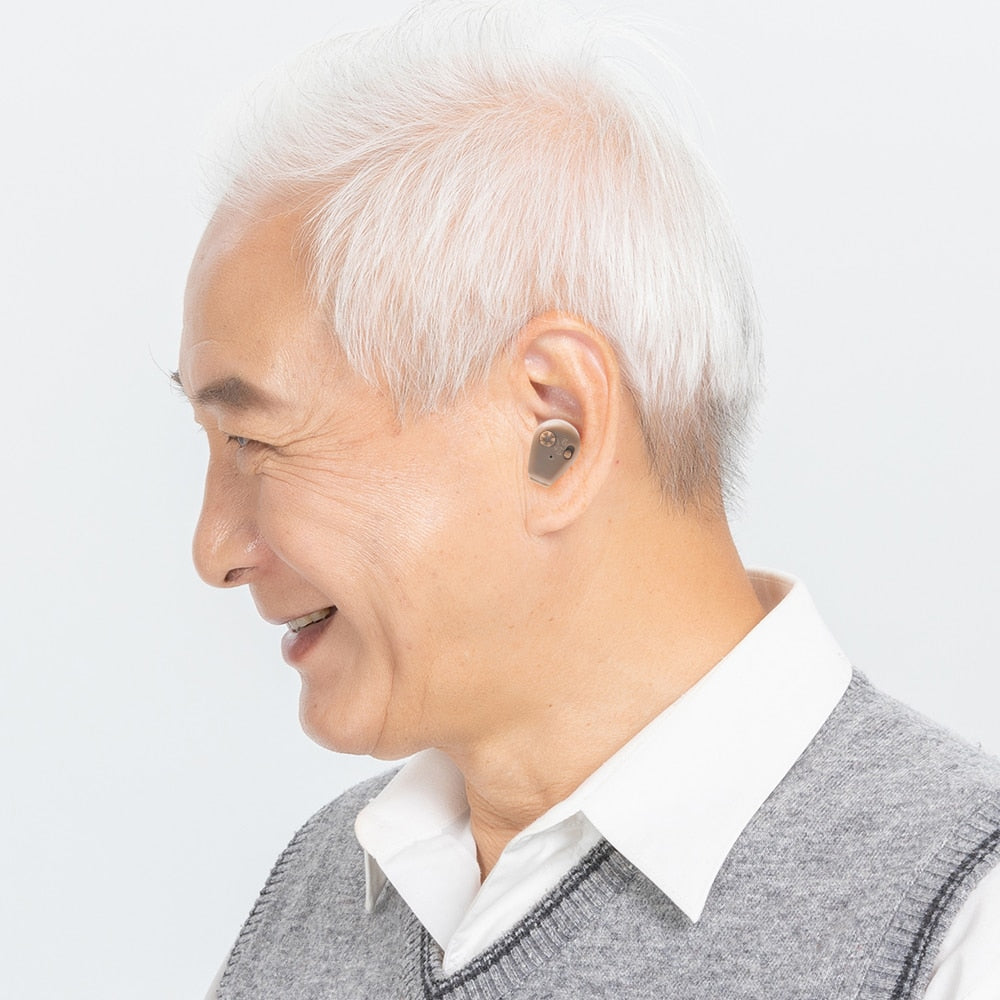 Rechargeable Mini Invisible Sound Amplifier Hearing Aid For The Elderly Deaf Ear Care Tools