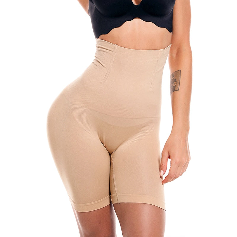 Women's High Waist Body Shaper Butt Lifter Seamless Shapewear