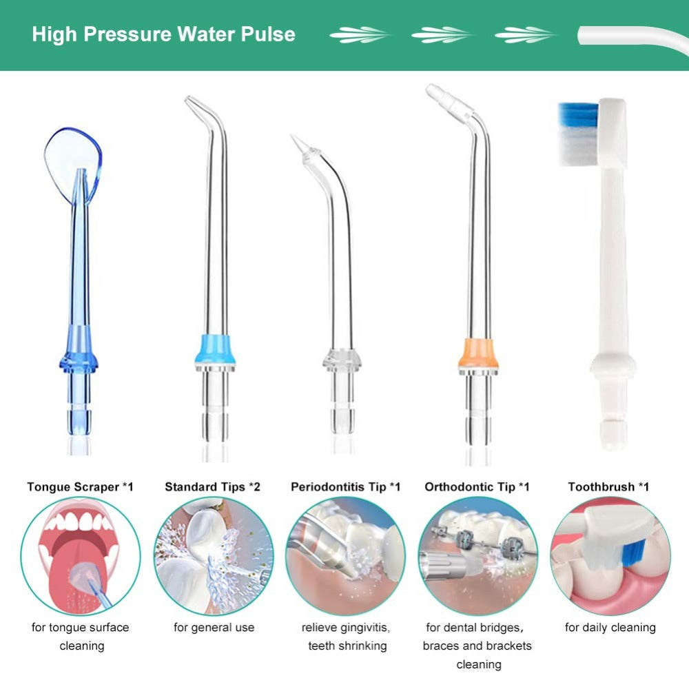 Portable 5 Modes 300ml Dental Flosser USB Rechargeable Oral Irrigator Teeth Cleaner + Bag
