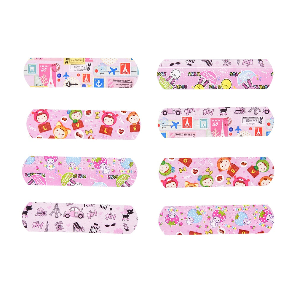 50PCs Waterproof Breathable Cartoon Adhesive Bandages