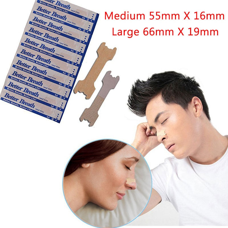 100 PCS/LOT Anti Snoring Nasal Strips for Better Breath