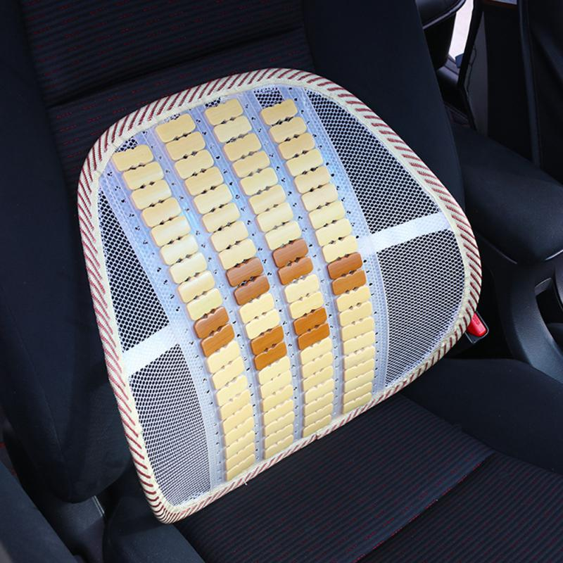 Breathable Lumbar Massage Waist Cushion Car Interior Supplies