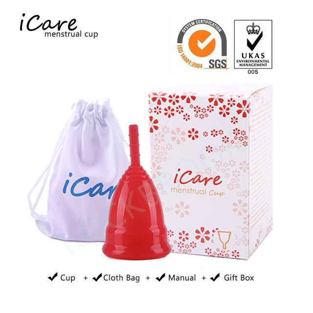 Hot Sale FDA Certified Medical Grade Silicone Menstrual Cup For Woman