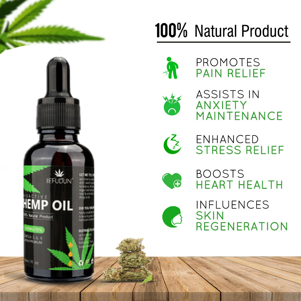 100% Organic Bio-active Hemp Seeds Extract Essential Oil for Pain Relief and Reduce Anxiety