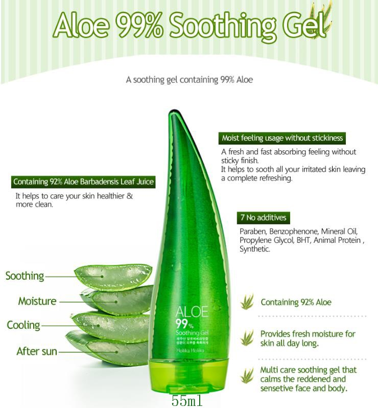 55ml Aloe Vera Gel Acne Treatment Anti Winkle Whitening Moisturizing Skin Care Face Cream
