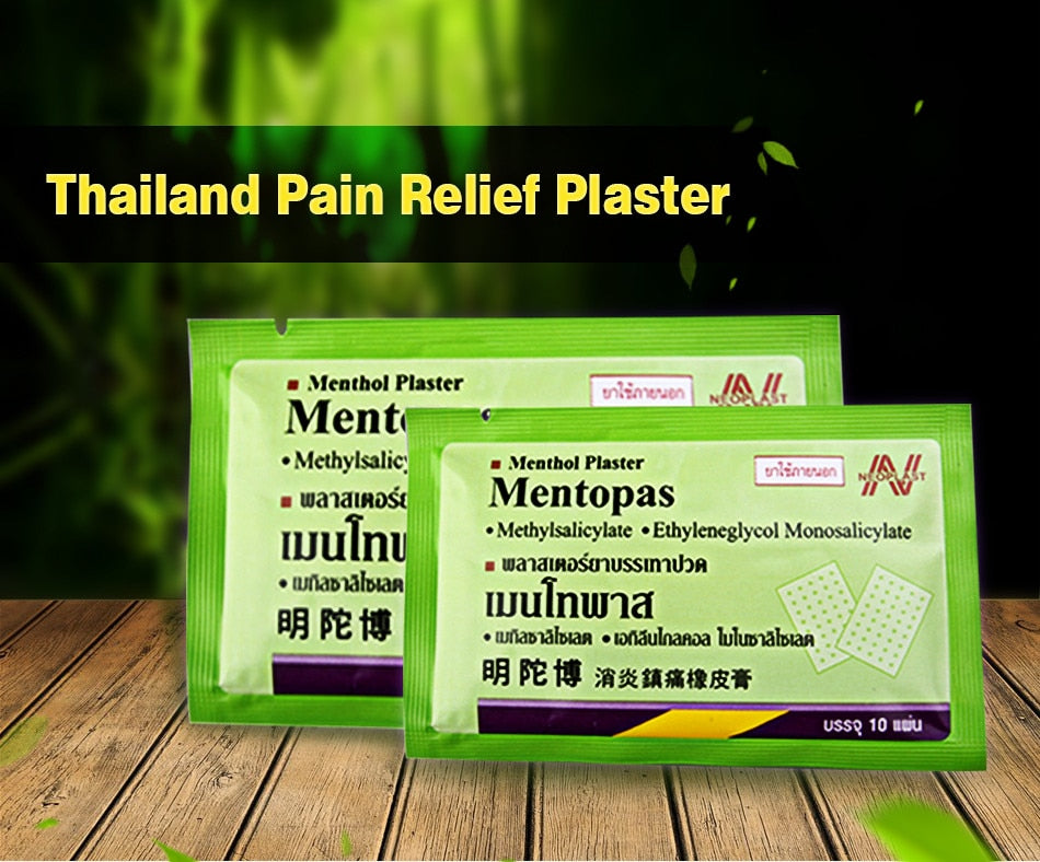 Fast Selling 100pcs Thailand Mentopas Inflammatory Pain Relief Plaster For Neck