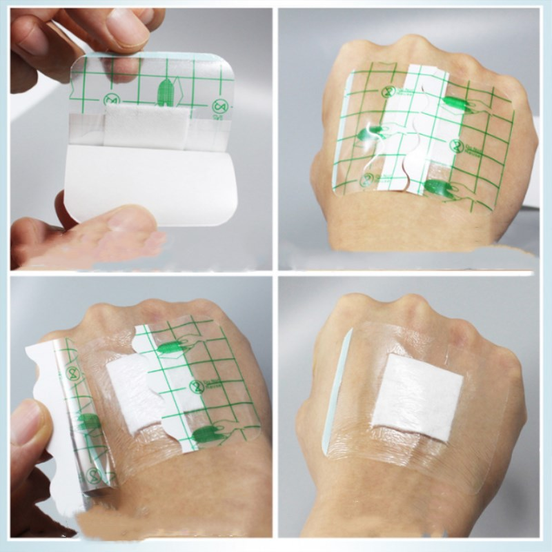 Breathable 10 Pcs 6cmX10cm Waterproof Wound Dressing Band-Aid Medical Transparent Sterile Tape