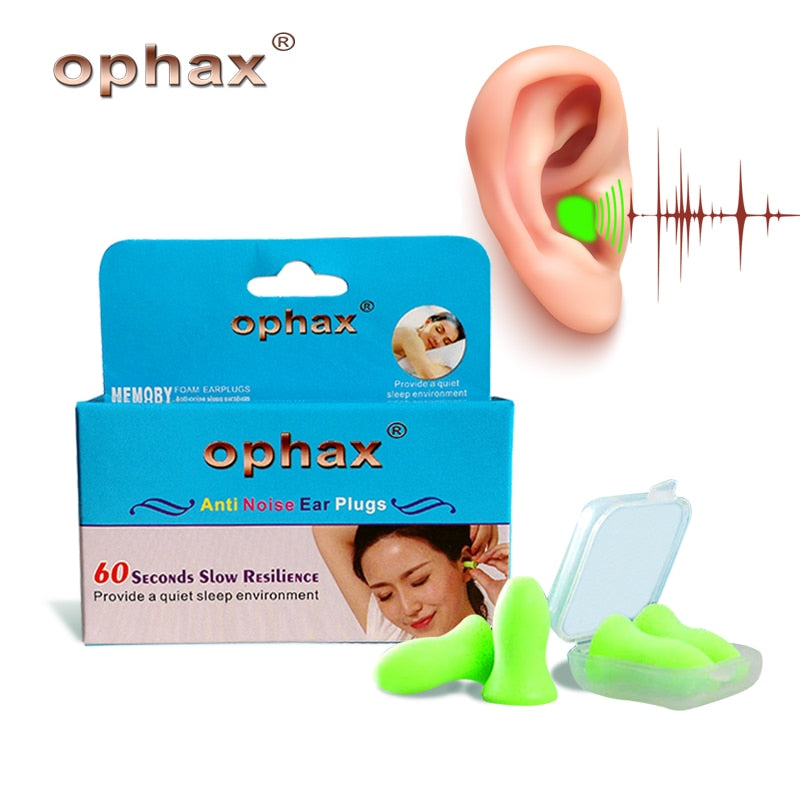 4pcs Upgraded Version Soft Foam Anti Noise Snoring Earplugs Sleep Aid