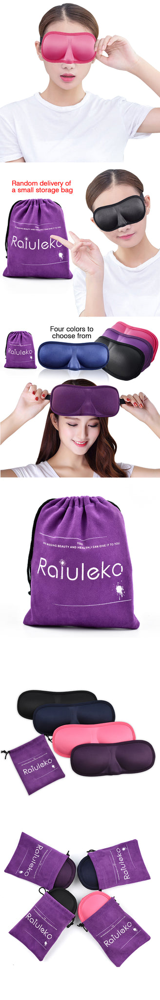 Portable & Breathable Travel Rest 3D Ultra-soft Fabric Eye Mask