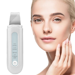 Blackhead Removal Ion Vibration Acne Exfoliating Peeling Spatula Ultrasonic Deep Face Cleaning Skin Scrubber