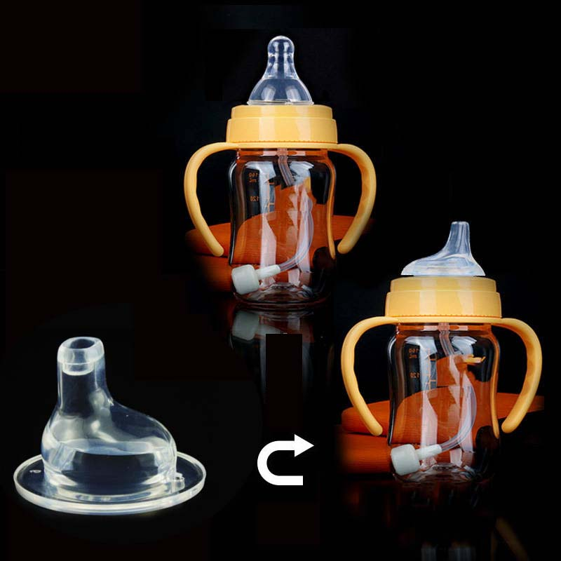 3Pcs Baby Bottle Straw Cup Wide Mouth Caliber Silicone Feeding Accessories