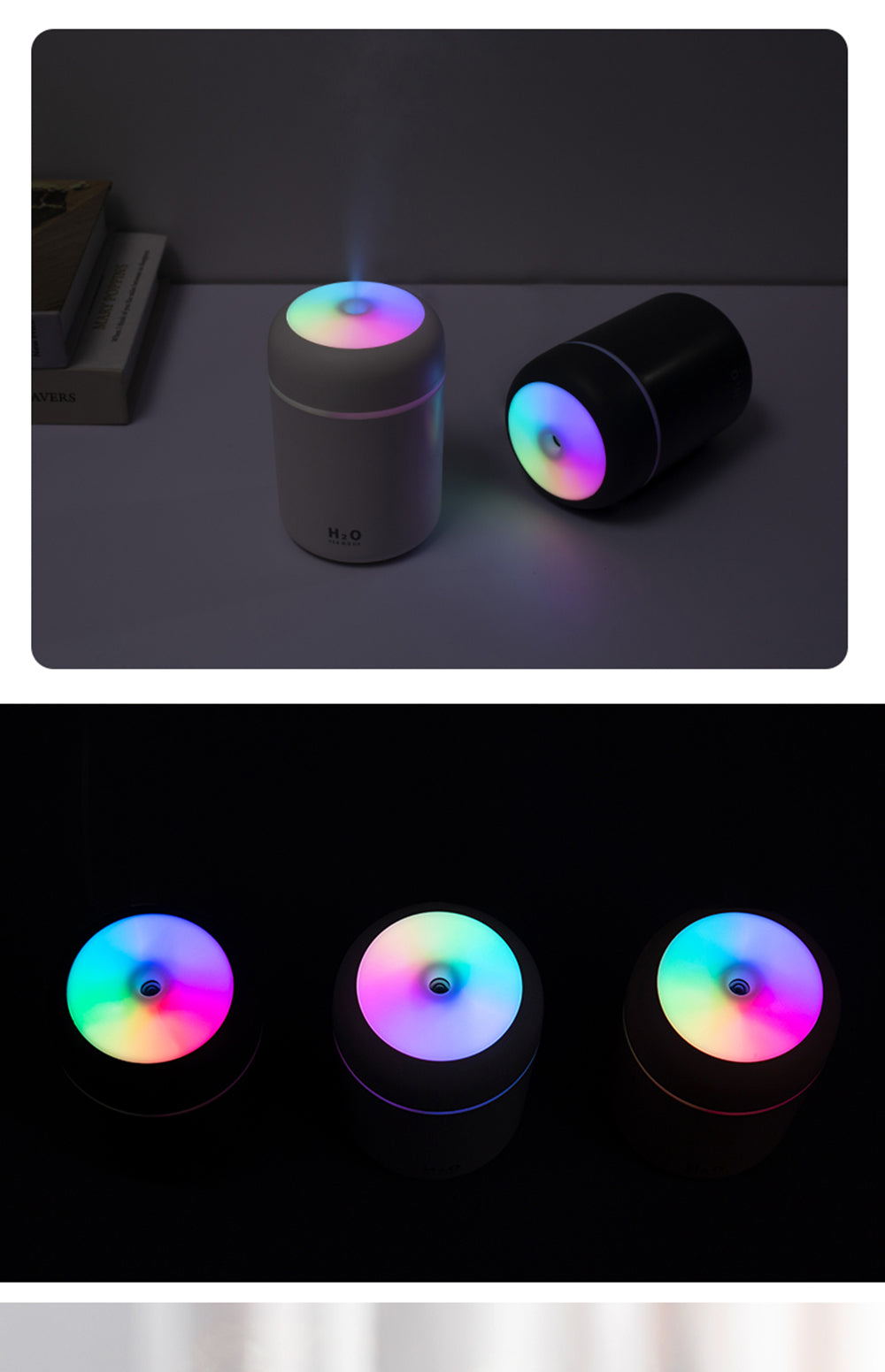 New 300ml Colorful Lights USB Air Ultrasonic Aroma Essential Oil Diffuser Aromatherapy Humidifier