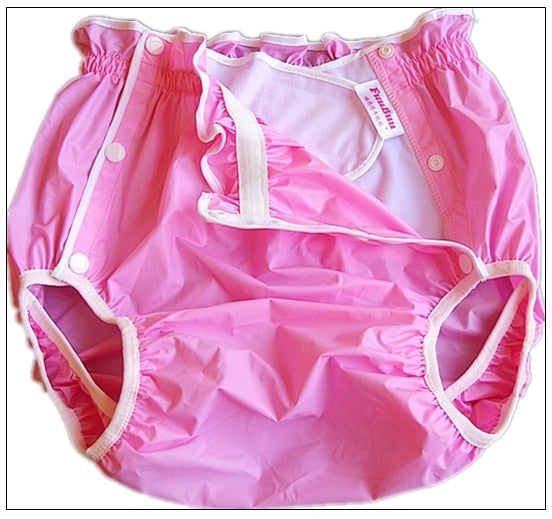 Pink-XL-1PC Waterproof Adult Diaper with Pocket