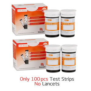 Safe Accu2 Blood Glucose Test Strips with 50/100/200pcs Lancets & Needles