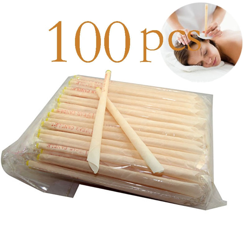 100pcs Indian Coning Fragrance Cleaning Ear Candle Wax Removal Tool