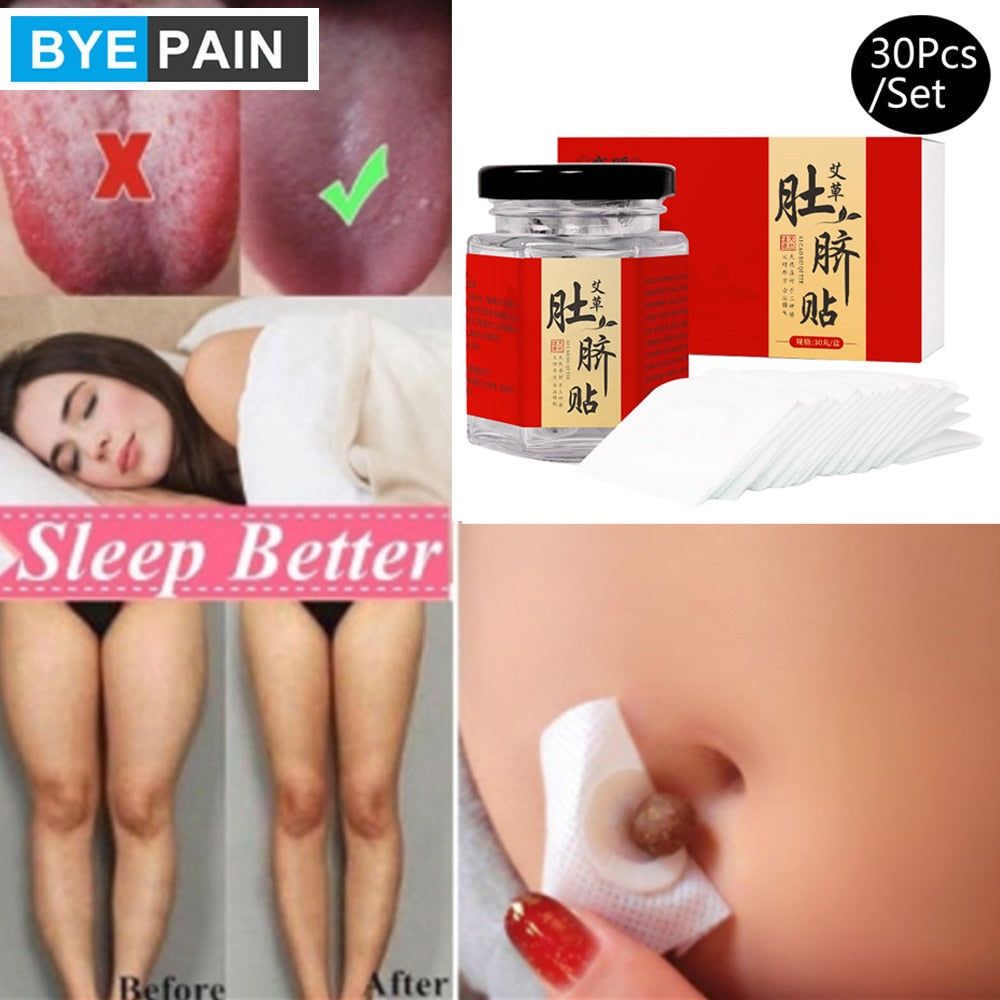 30Pcs/Set Relieve Physical Discomfort and Promote Body Circulation Wormwood Patch