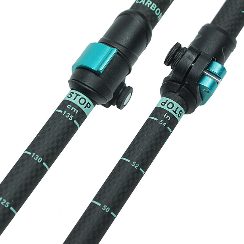 195g/PC Carbon Fiber External Quick Lock Hiking Telescope Stick