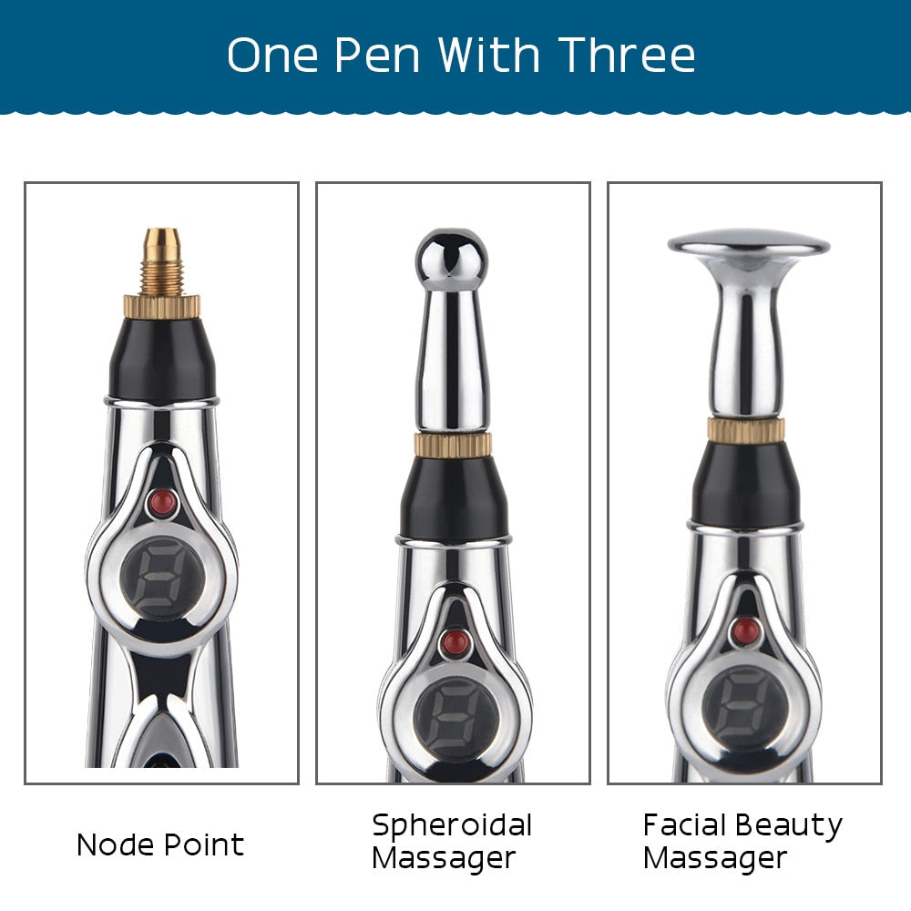 Electric Meridians Laser Therapy Heal Massage Pen