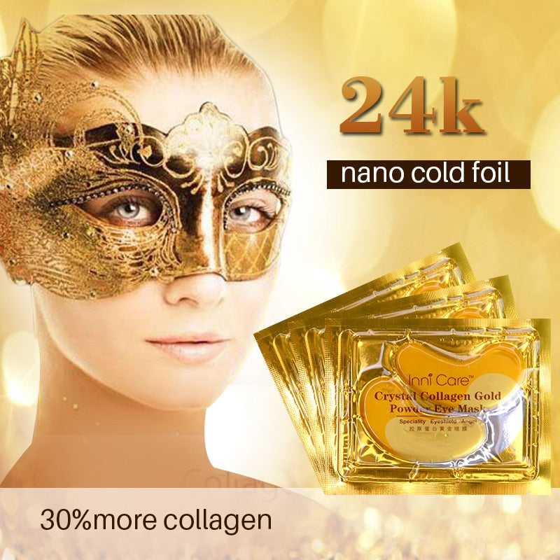 40pcs Beauty Gold Crystal Collagen Anti-Aging Acne Eye Patches