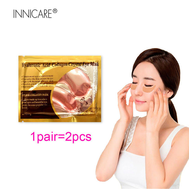 10Pairs Beauty Anti-Aging 24K Gold Collagen Eye Mask Patches For Dark Circle Removal