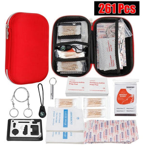 Portable 145/261/304 Pcs First Aid Kit Bag Set for Camping Hiking Outdoor & Medical Emergency