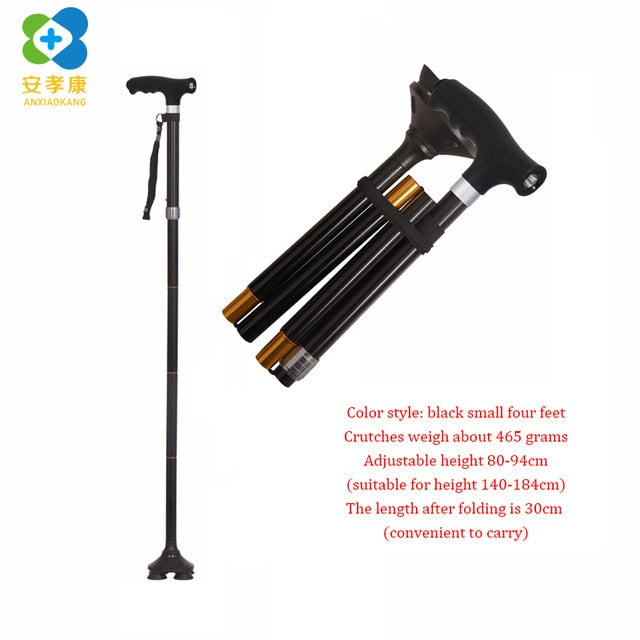 Non Slip Pole Folding Telescopic Walking Stick for Hiking/Elderly Walk