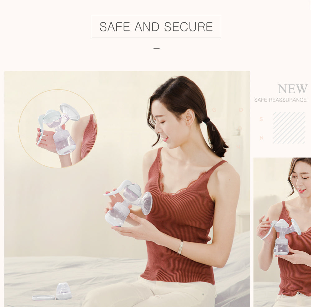 Portable Baby Nipple Manual Suction Milk Feeding Breast Pumps