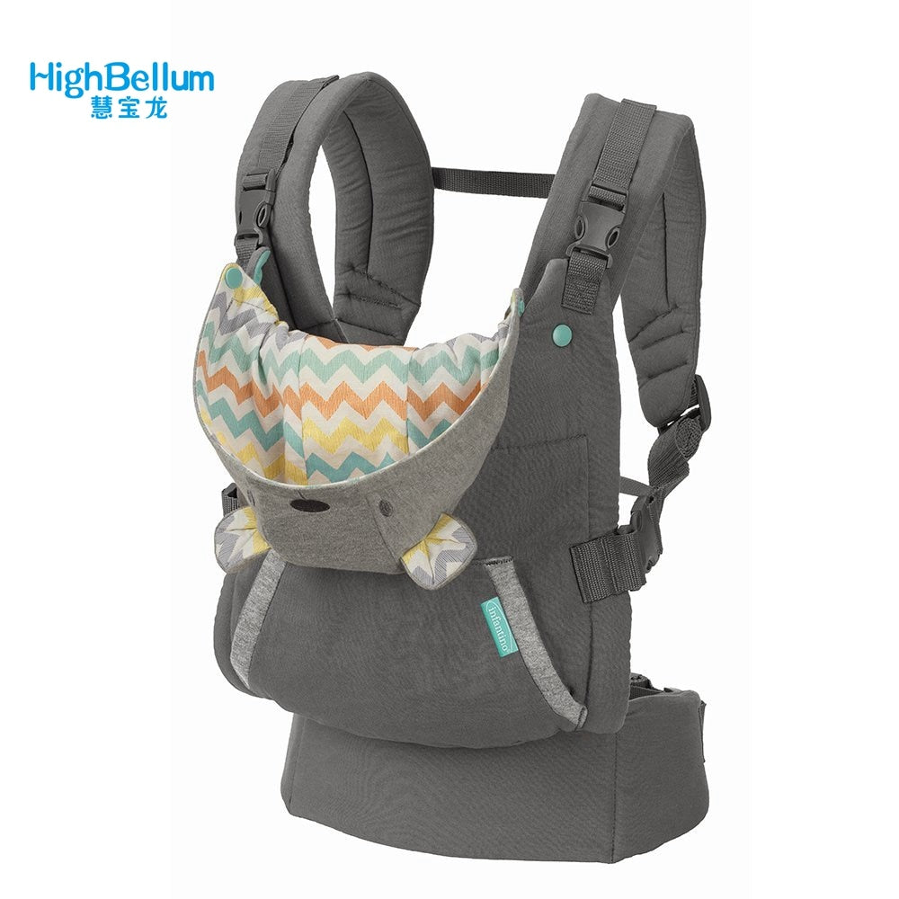 Portable Backpack Thickening Shoulders 360 Ergonomic Hoodie Kangaroo Baby Carrier