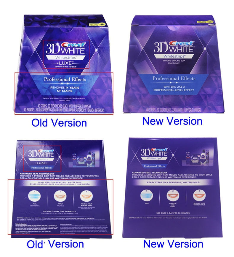 Soft Bristle Charcoal Professional Effects 3D Whitening Strips