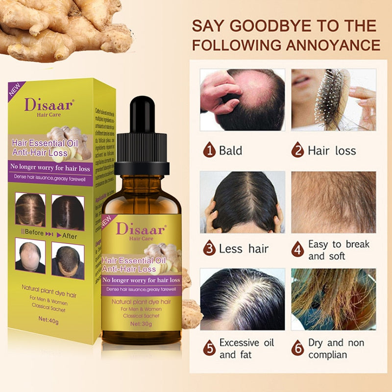 Hair Growth Essential Oil Hair-Restorer Prevent Hair Loss Treatment
