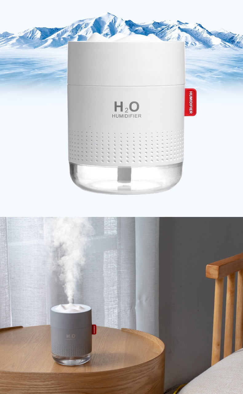 Portable Ultrasonic 500ML Humidifier USB Aroma Air Diffuser With Romantic Night Lamp