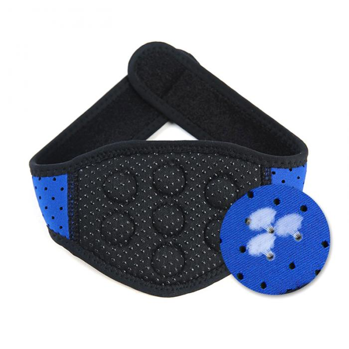 1PC Self-heating Tourmaline Therapy Support Pain Relief Magnetic Neck Massage Belt