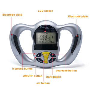 Wireless Portable Digital LCD Screen Handheld BMI Tester Body Fat Monitors