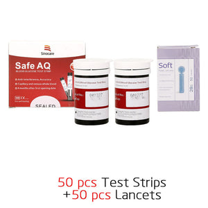 50/100/200pcs Blood Glucose Test Strips with Lancets Needles for Diabetic Blood Sugar Detection