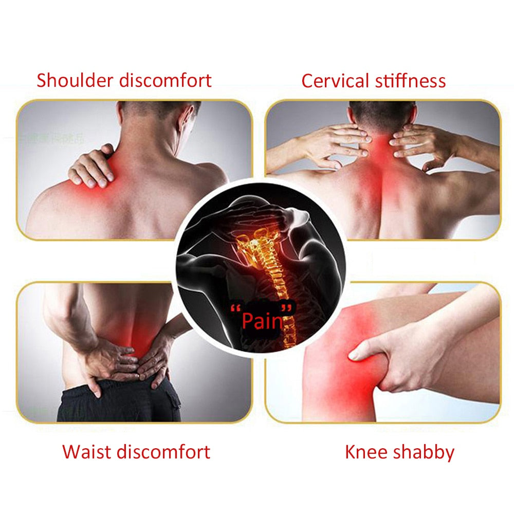 4 packs/16pcs Magnetic Plaster for Arthritis Knee Back Waist Joint Pain Relief