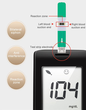 Blood Glucose Monitor With Free Test Strips Lancets Test Blood Sugar Health Care