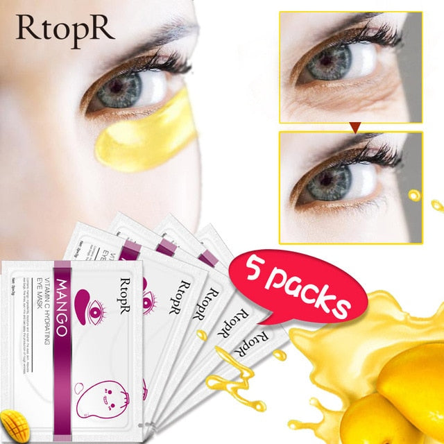 10pcs=5pack Anti-Aging Gold Crystal Collagen Eye Patches