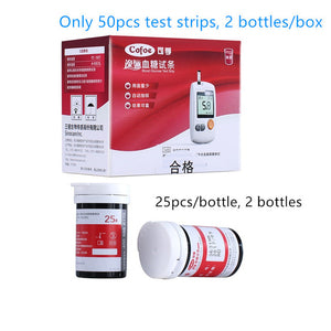 Top Selling Glucose Meter Blood Sugar Monitor Diabetes Tester with 50/100pcs Test Strips & Lancets Needles