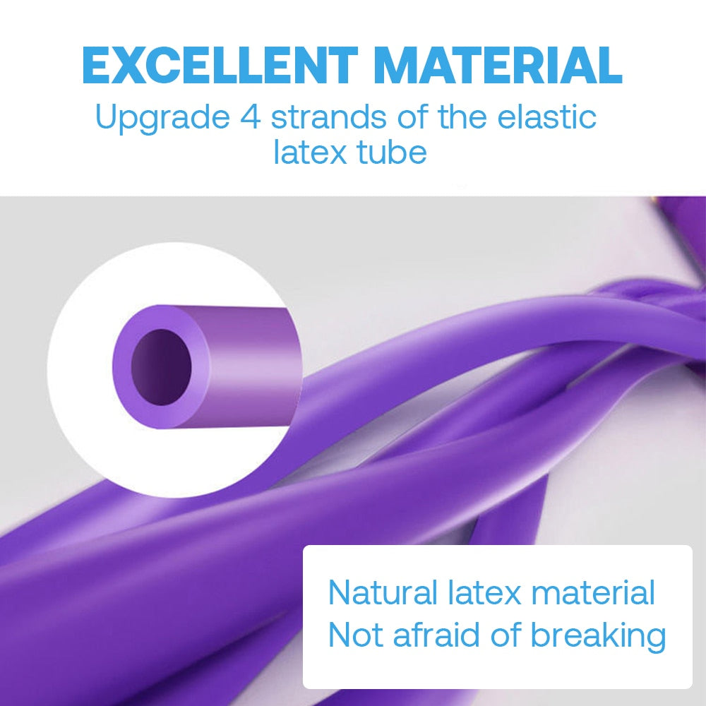 Natural Latex Sit-up Bodybuilding Elastic 4 Tube Pedal Fitness Resistance Bands