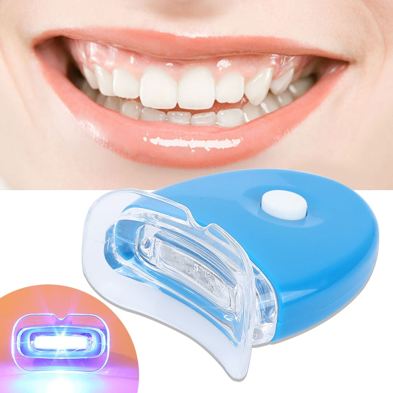 Teeth Whitening Kit With LED Light Oral Care Bleaching System