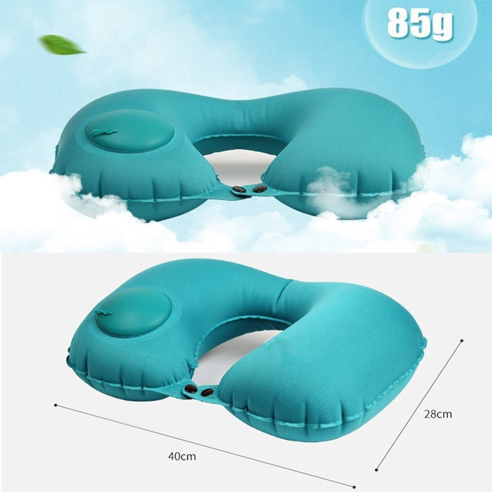 U-Shape Inflatable Travel Neck Pillow for Head Rest