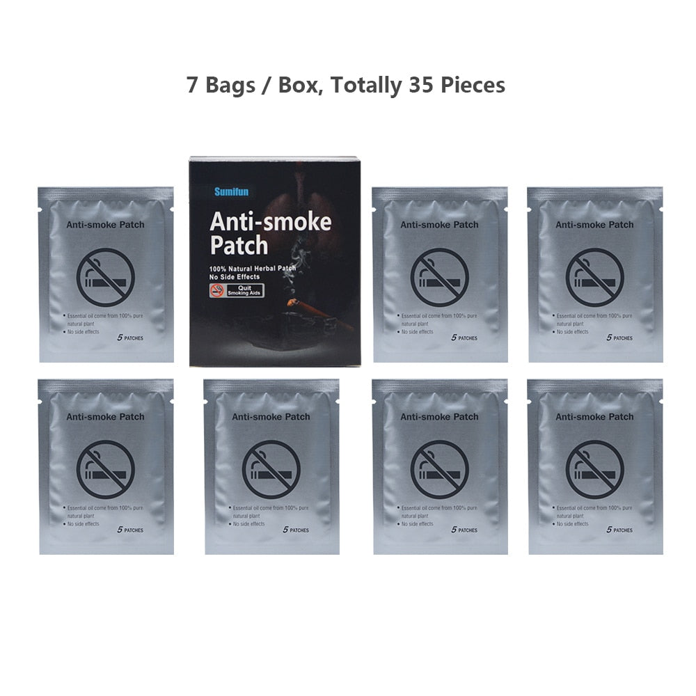 100% Natural Ingredient 35Pcs/Box Anti Smoke Patch