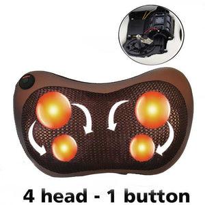 Electric Vibrator Shoulder Back Kneading Infrared Therapy Neck Massage Pillow