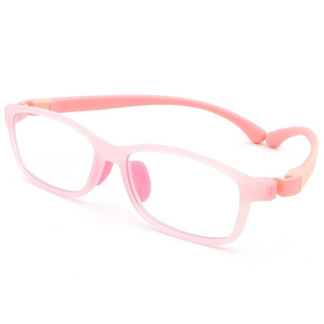 Flexible Frame BPA-Free Silicone Nose Pad Anti Blue Light Glasses For Kids