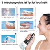 5 Modes Portable 300ml USB Rechargeable Dental Water Flosser Jet Waterproof Oral Irrigator Teeth Cleaner+5 Tips