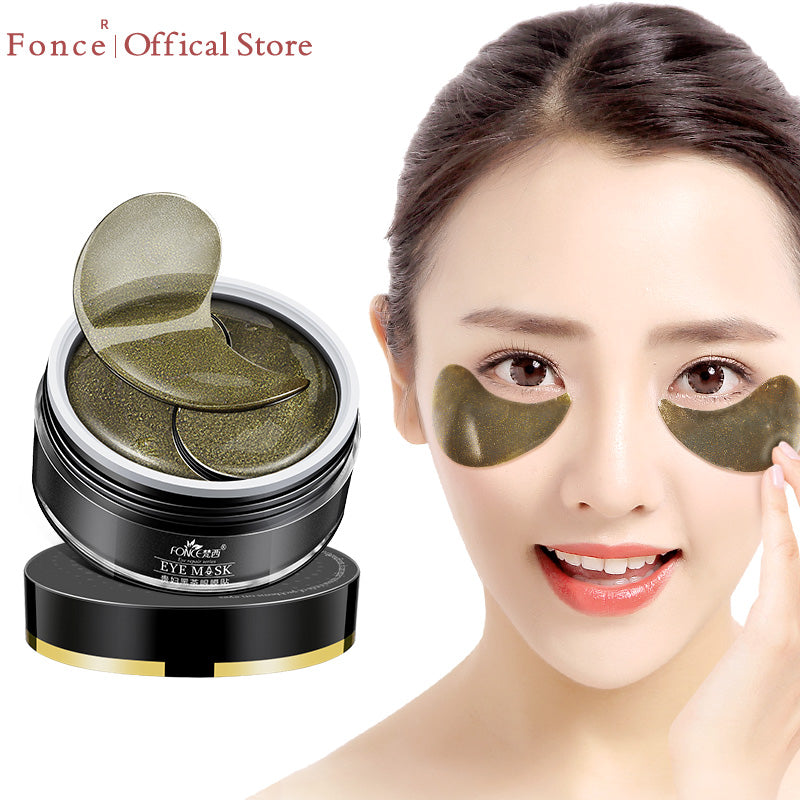 60pcs Natural Black Tea Collagen Crystal Dark Circles Remover Sleep Eye Patches