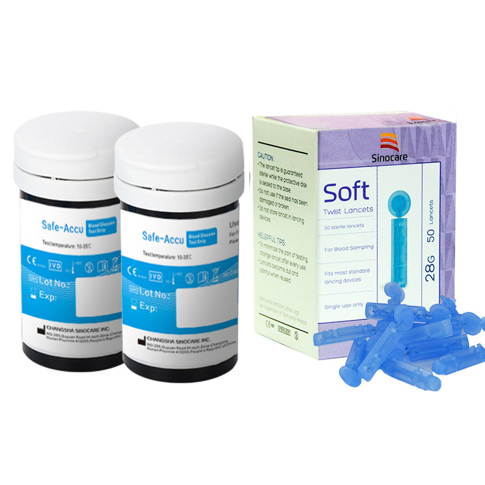 Safe Accu Blood Glucose Test Strips and Lancets